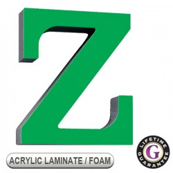 Gemini ACRYLIC LAMINATE on FOAM Display Sign Letters