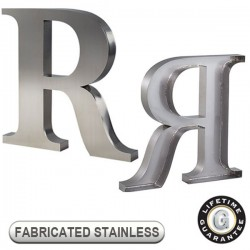 Gemini FABRICATED STAINLESS STEEL Sign Letters