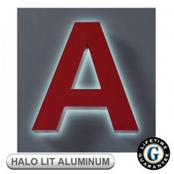 Gemini Halo Lit FABRICATED ALUMINUM Sign Letters