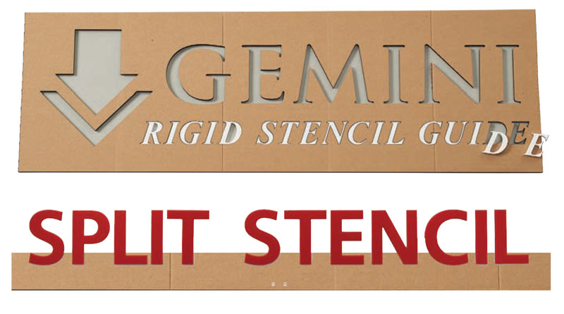 Rigid Stencil Guides